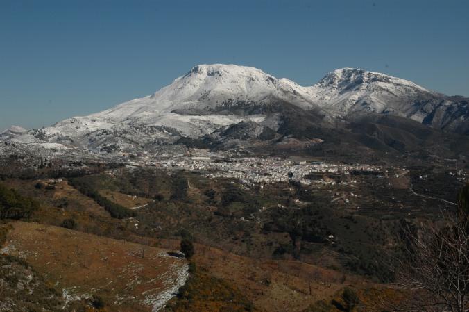 panoramique de sierra de las nieves
