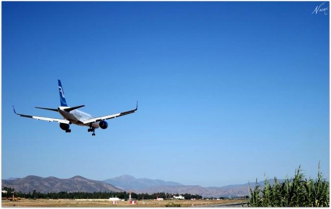 Avion arrive a Malaga