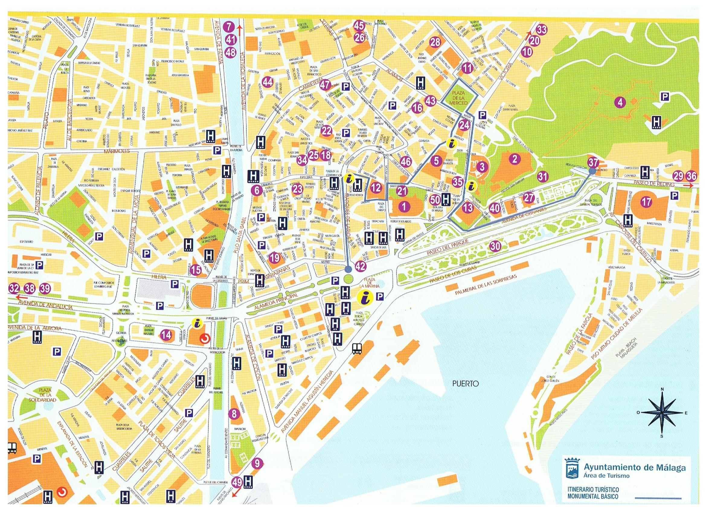 Carte Geographique Andalousie.Que Voir A Malaga Andalousie Visiter L Andalousie