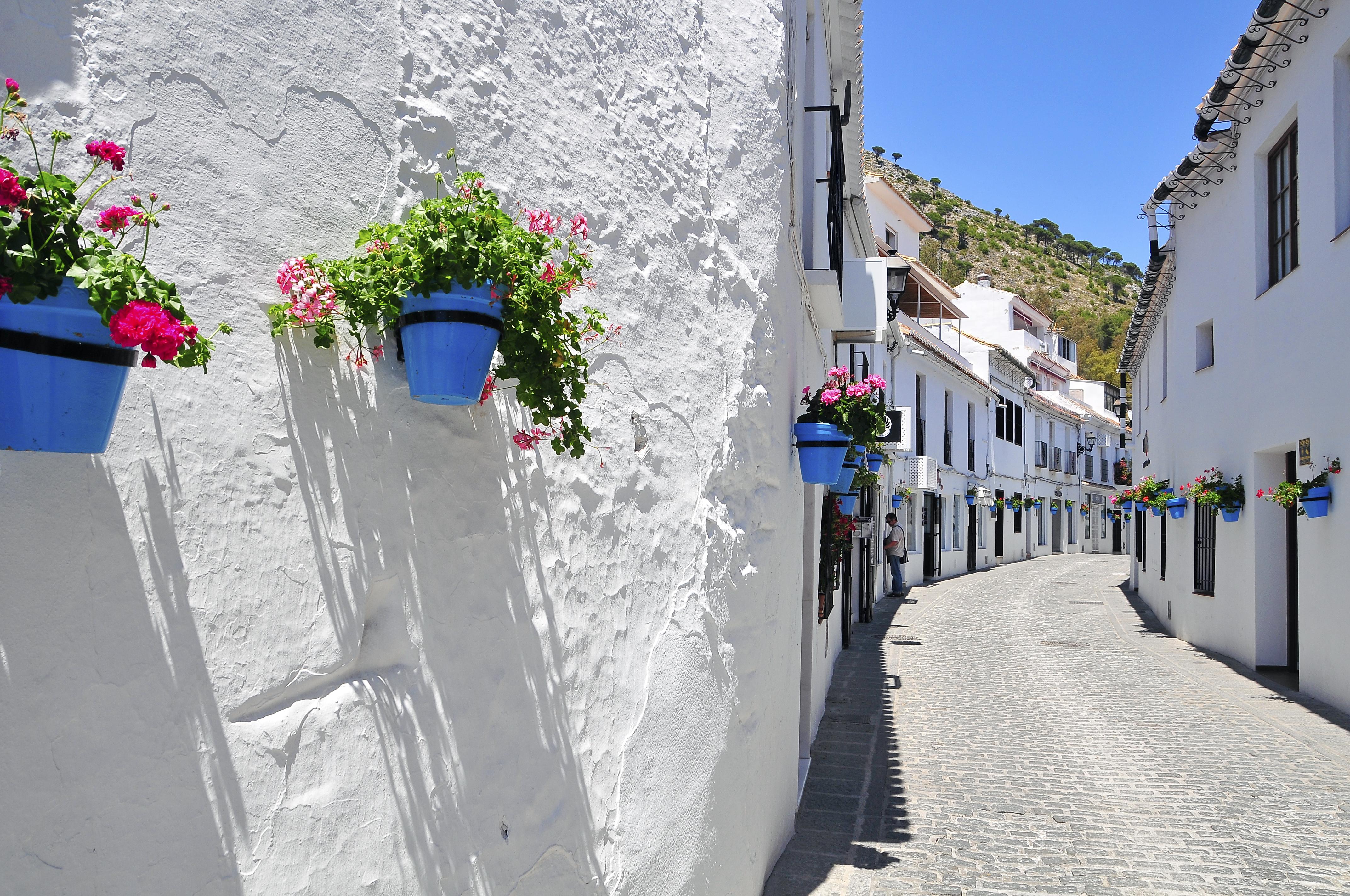 Mijas malaga andalousie visiter l andalousie for Poutres blanchies a la chaux