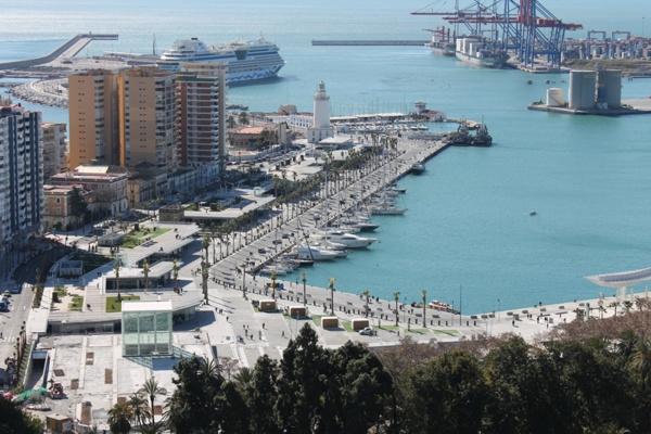 Le Port de Malaga et Muelle Uno, Malaga