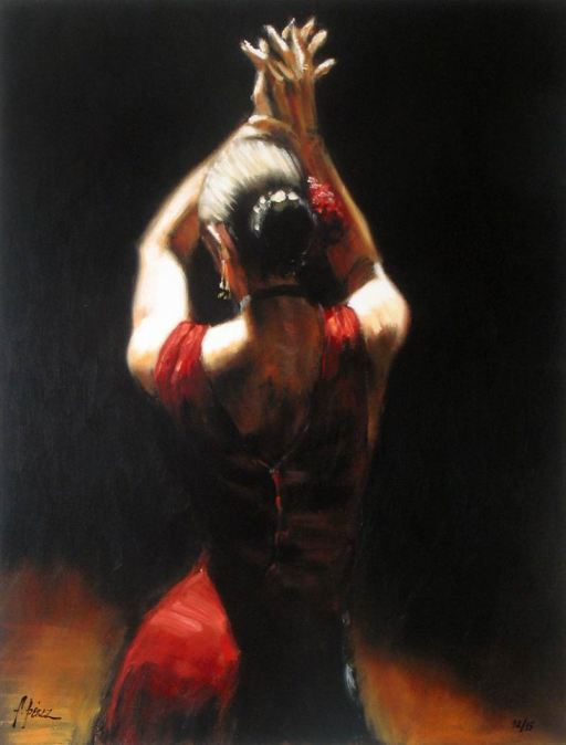 Spectacle de Flamenco - Peinture