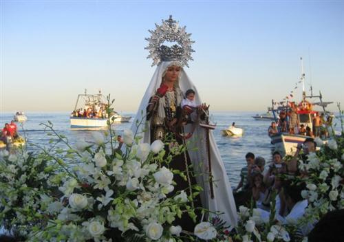 Vierge du Carmen, fête 16 Juillet à Malaga