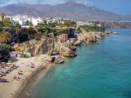 Plage de Calahonda à Nerja, Malaga