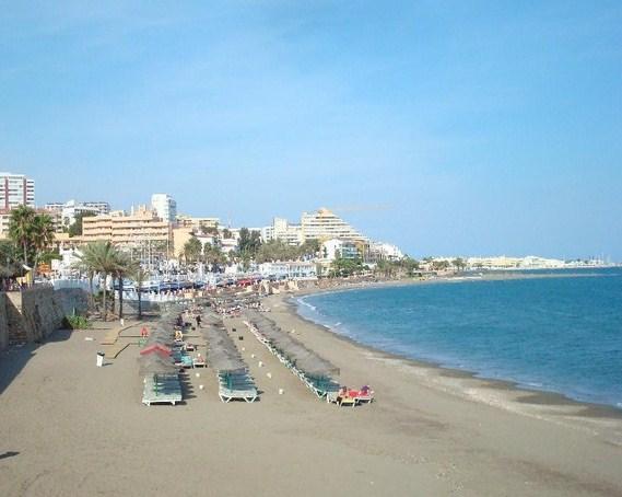 Plage Santa Ana Benalmadena, Malaga