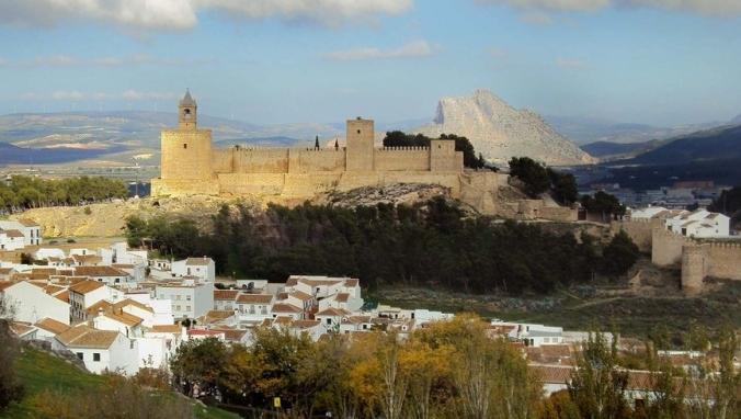 Alcazaba d'Antéquéra, Malaga, Andalousie.