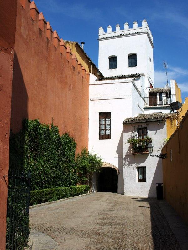 Barrio Santa Cruz à Séville (Andalousie).