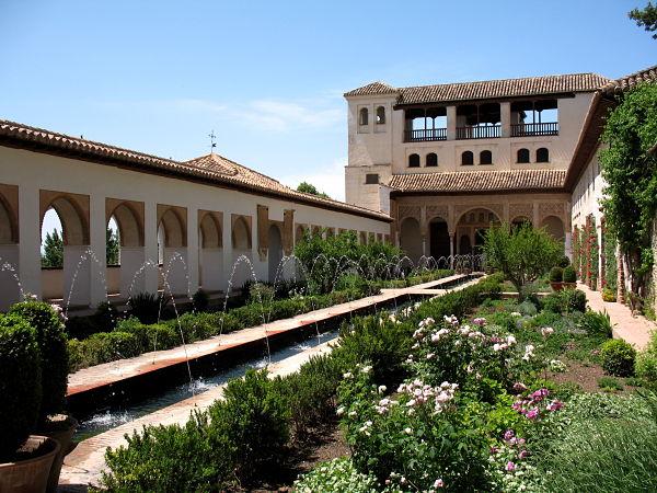 Le Généralife à l'Alhambra, Grenade.