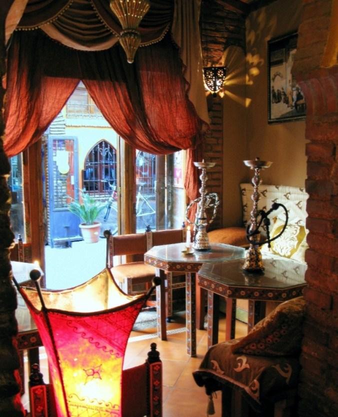 Salon de thé à Grenade