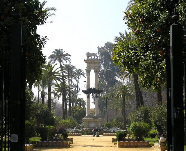 Jardins de Murillo à Séville (Andalousie)