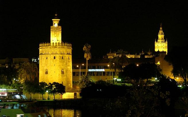 La Tour de l'Or de Séville, Andalousie.