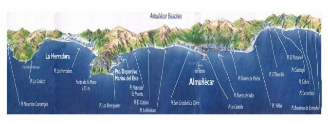 Les plages d'Almuñecar, Grenade (Andalousie)