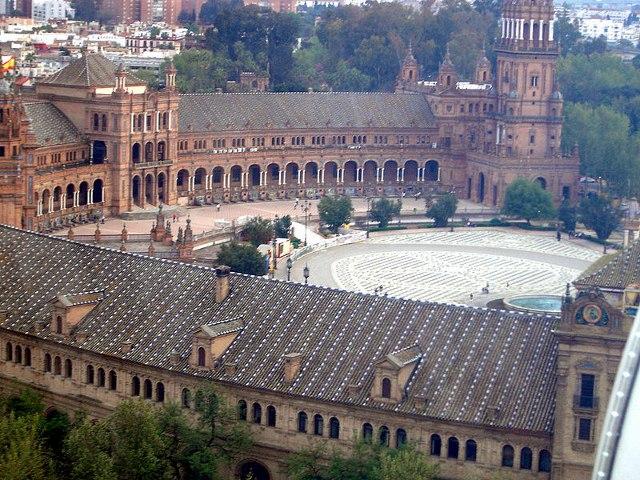 Place d'Espagne à Séville (Andalousie)