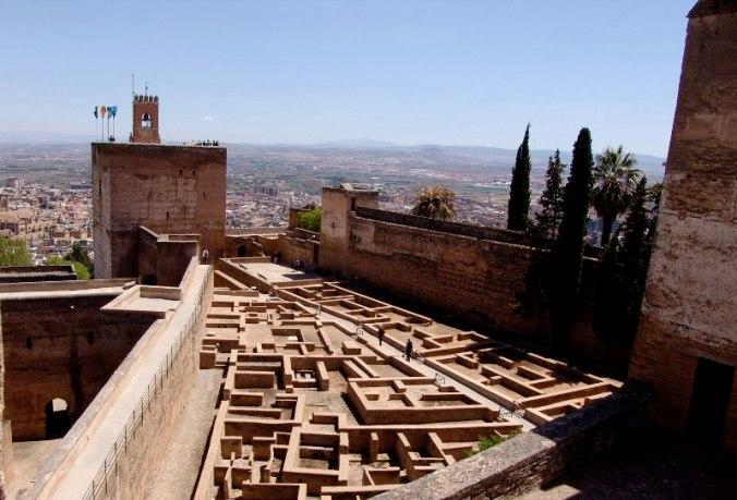 Alcazaba de Grenade, Andalousie.