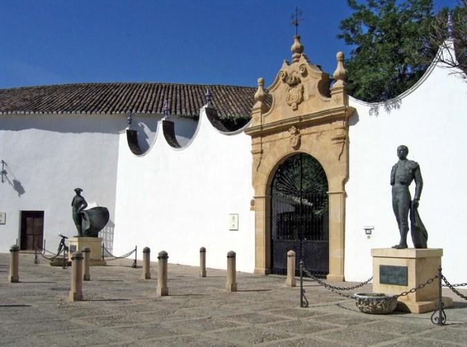 Entrée aux Arènes de Ronda, Malaga (Andalousie)