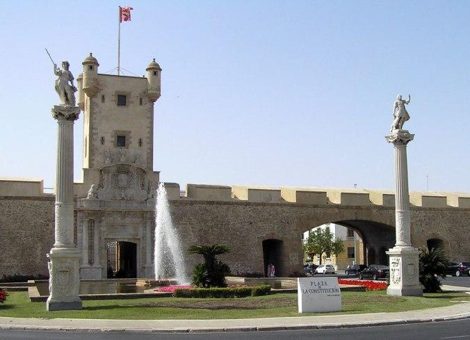 Murailles et Porte de Terre,  Cadix (Andalousie)