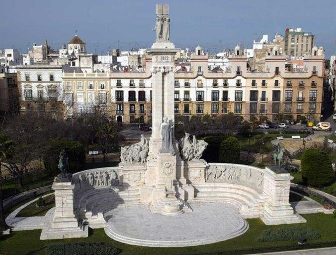 Place d'Espagne et Monument à la Constitution de 1812, Cadix (Andalousie)