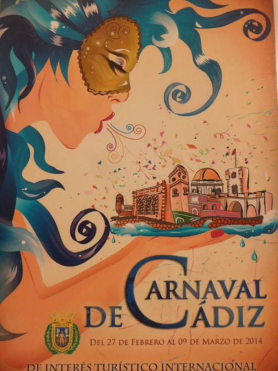 Affiche du Carnaval 2014 à Cadix (Andalousie)