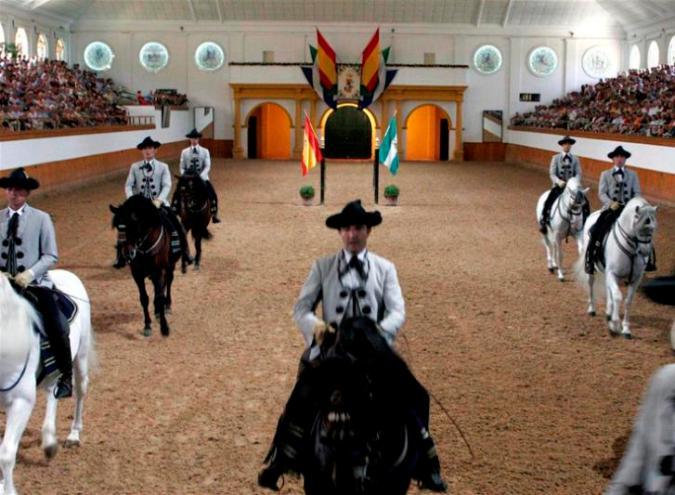 École Royale Andalouse d'Art Équestre à Jerez, Cadix (Andalousie)