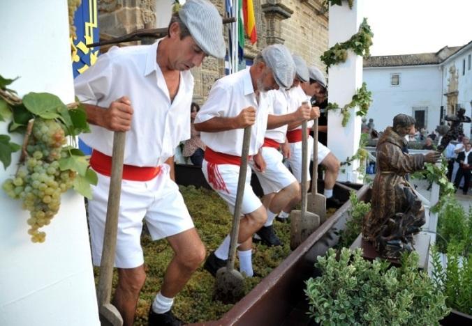 Foulage du Raisin à Jerez, Cadix (Andalousie)