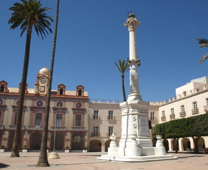 Mairie et Place de la Constitution d'Almería (Andalousie)