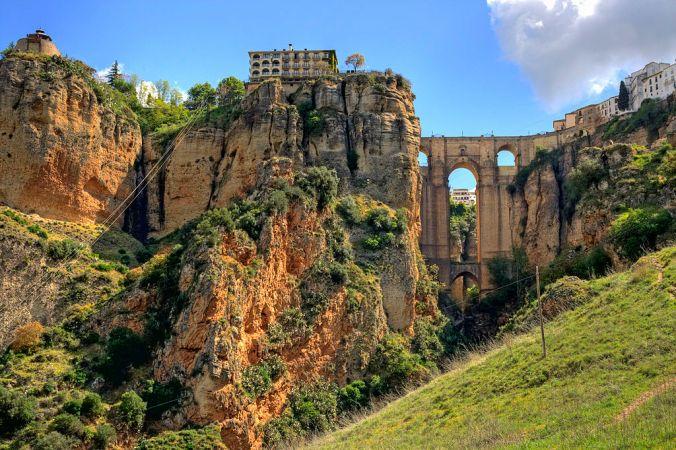 Le pont neuf à Ronda (Malaga)